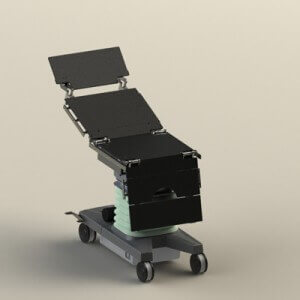 Rendering achieved in SolidWorks - operating table