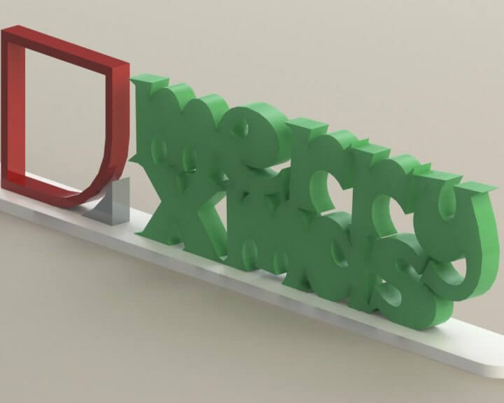 Merry Xmas 3D Rendering
